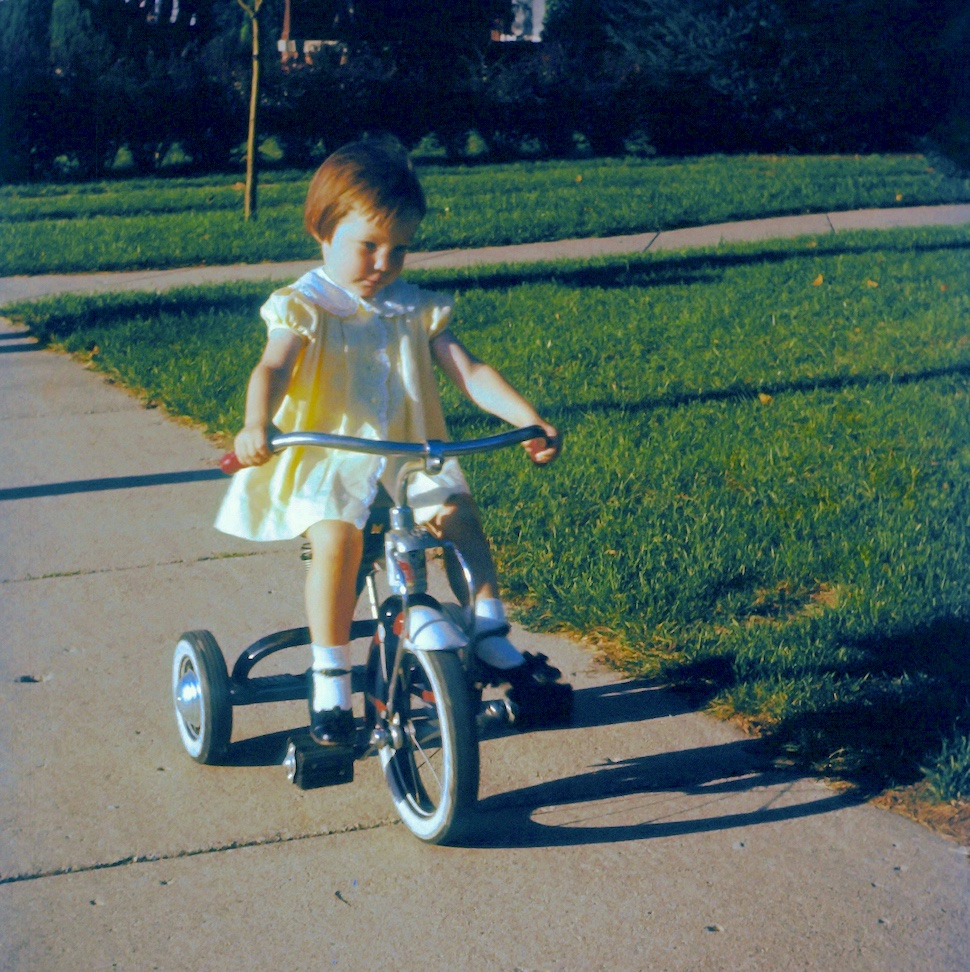 Living the Life You Planned Barbara Sinclair. Me on my bike when a toddler.