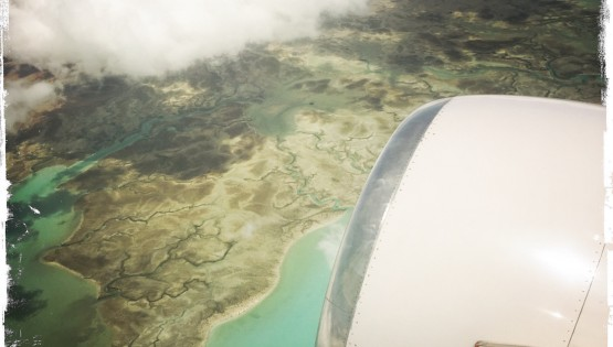 Staying Healthy When Traveling 2, Aerial view from plane.