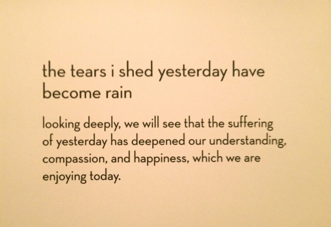 Barbara Sinclair Blog Calligraphy by Thich Nhat Hahn Tears Shed