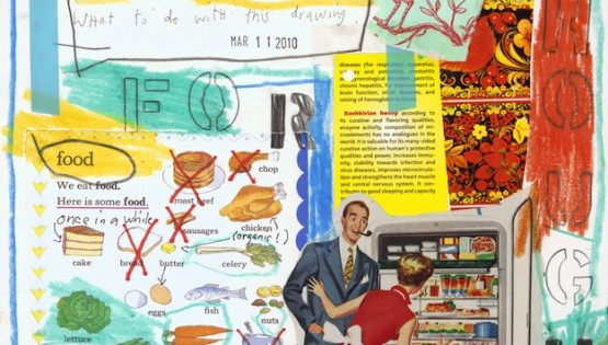 Barbara Sinclair Food for Thought collage Quest to Stay healthy sometimes makes you crazy