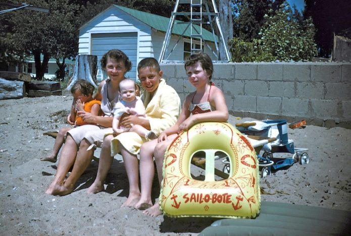 What I did on summer vacation family photo Barbara Sinclair
