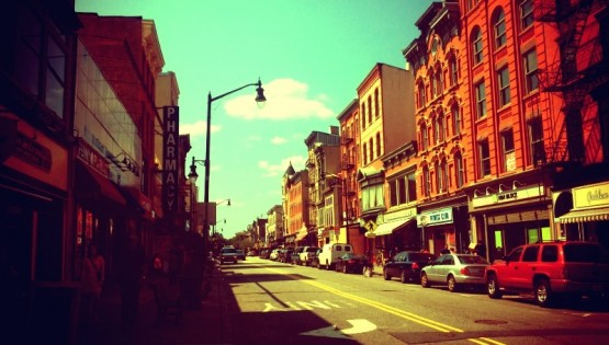 Everything Looks Brighter When You Follow the Yellow Brick Road Jersey City Street