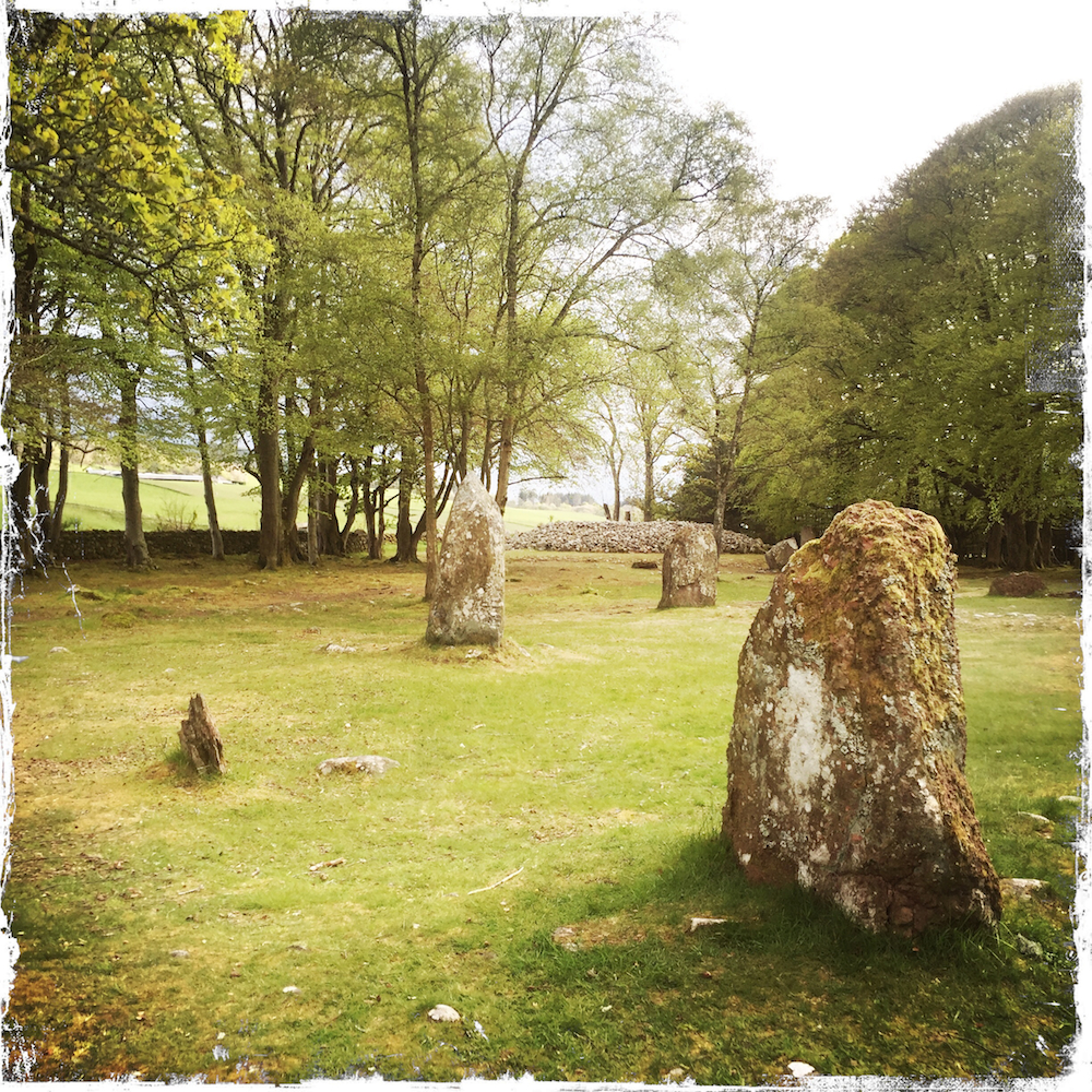 Ancient burial grounds and standing stones at Clava Cairns
