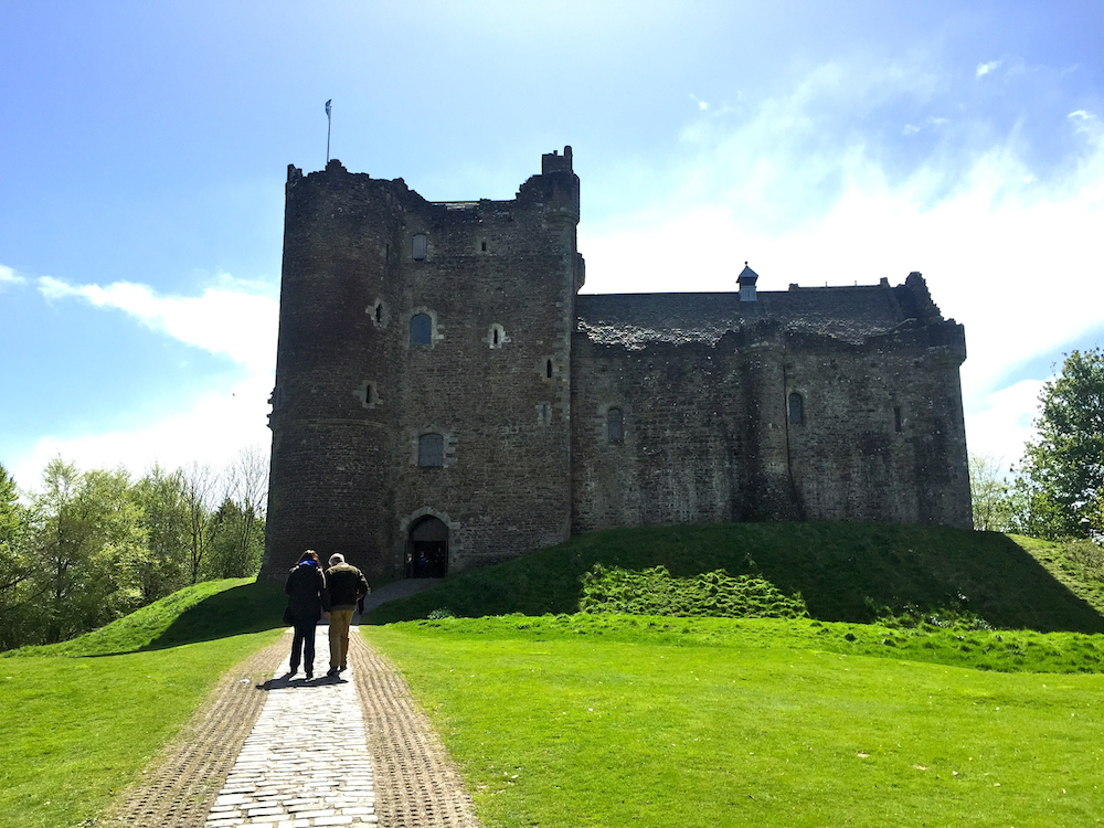 Barbara Sinclair, Doune Castle, Haste Ye Back, Scotland