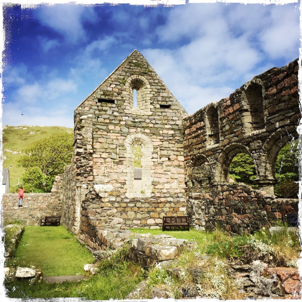 Barbara Sinclair, Nunnery Ruins at Iona, Isle of Iona, Hast Ye Back, Scotland