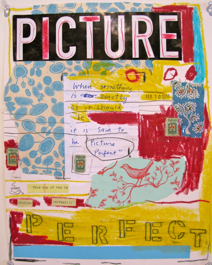 Barbara Sinclair Gallery mixed-media titled Picture Perfect
