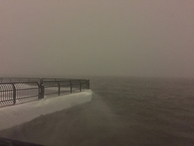 Barbara Sinclair, Hudson River - Winter Storm Jonas