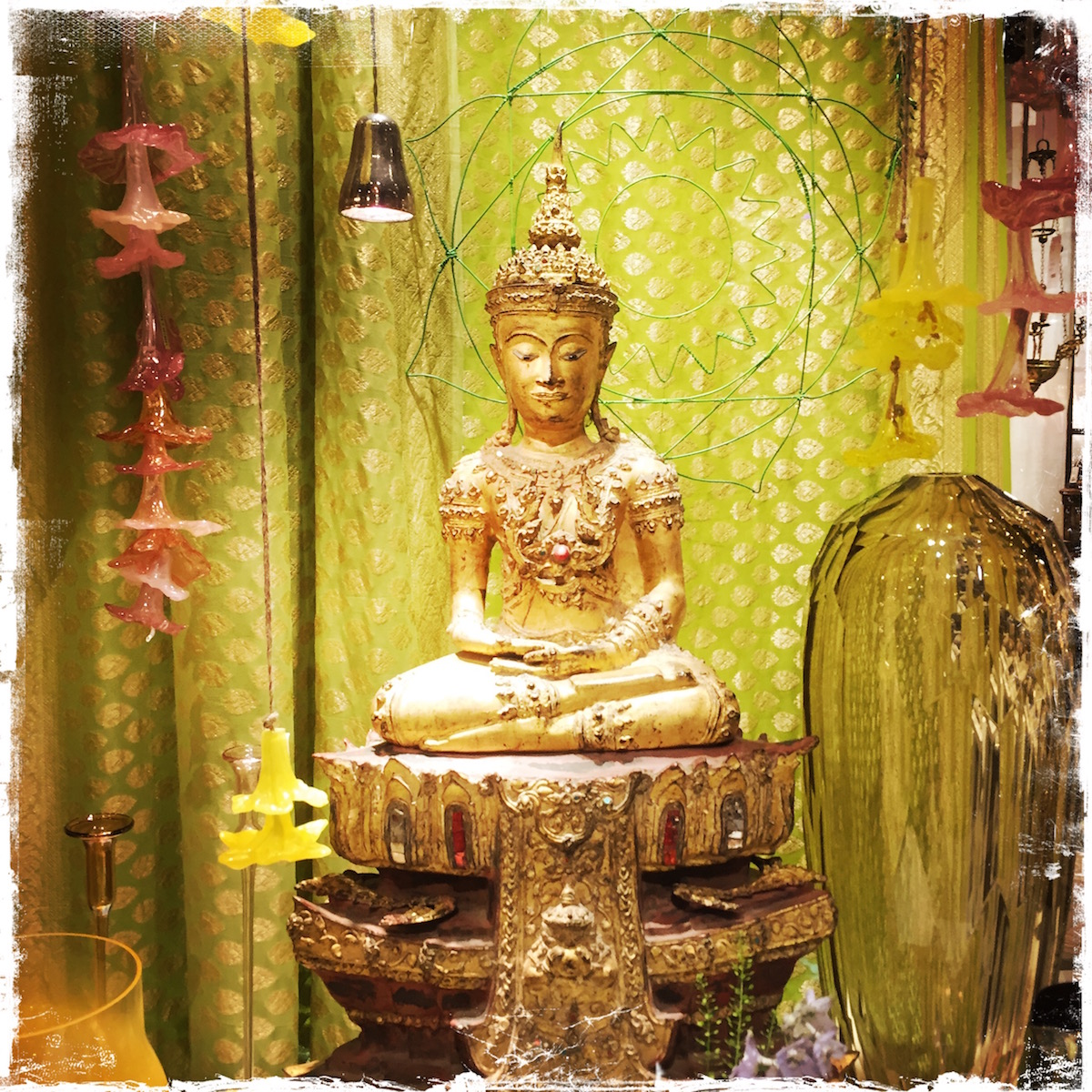 Buddha display at ABC Home, NYC. Photo by Barbara Sinclair
