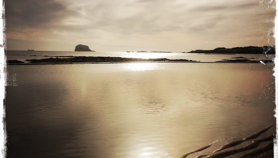 Sunset at Bass Rock in North Berwick, Scotland. Photo by Barbara Sinclair