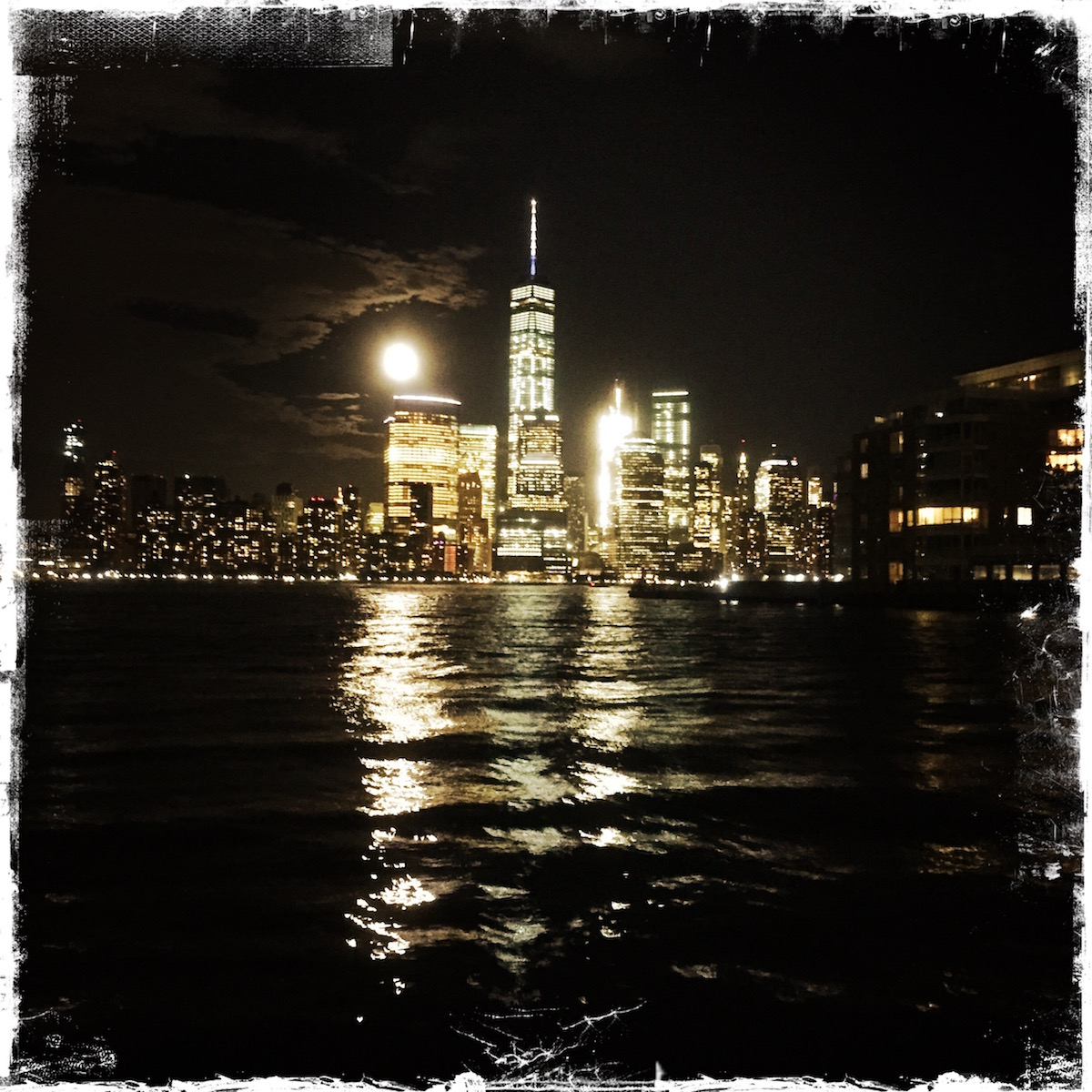 Full moon over Manhattan. NYC. Photo by Barbara Sinclair Moving On!