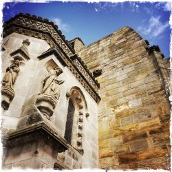 Outside shot of Rosslyn Chapel in Scotland. Photo by Barbara Sinclair