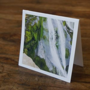 Tallest Waterfall Ireland Note Card by Barbara Sinclair