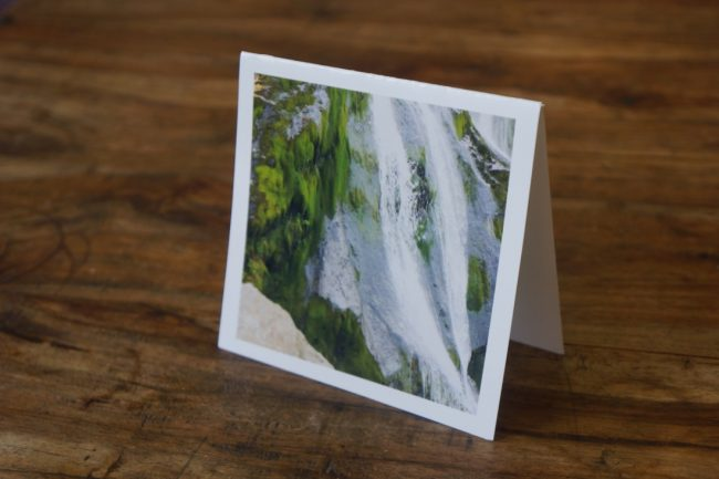 Tallest Waterfall Ireland Greeting Card by Barbara Sinclair