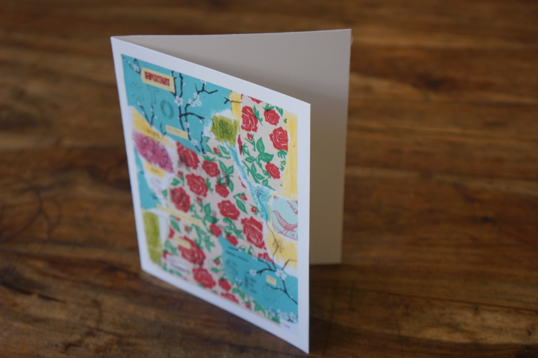 Idiom Stop and Smell the Roses Note Card by Barbara Sinclair