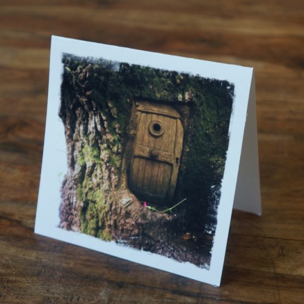 Fairy Door Forest Note Card Scotland by Barbara Sinclair
