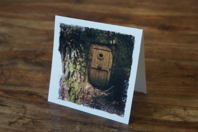 Fairy Door Forest Greeting Card Scotland by Barbara Sinclair