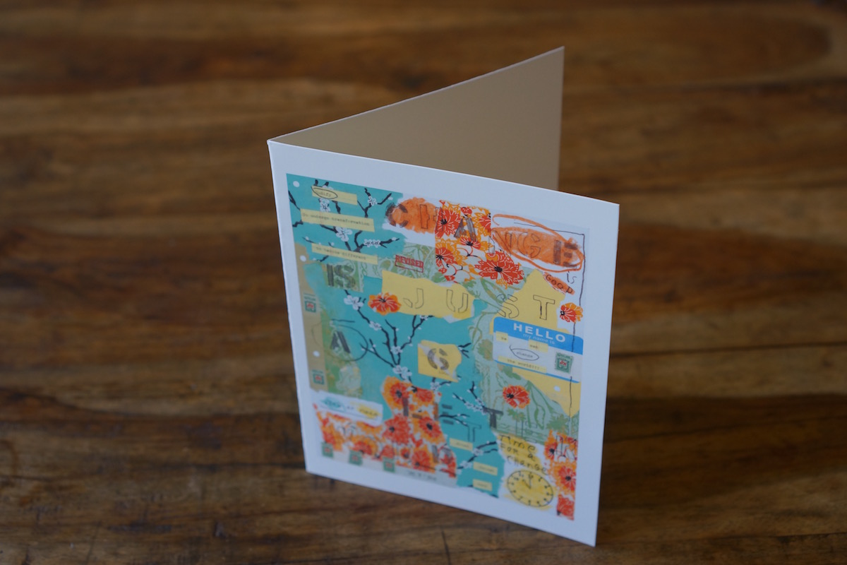 Change Is Just a Six-Letter Word Note Card by Barbara Sinclair