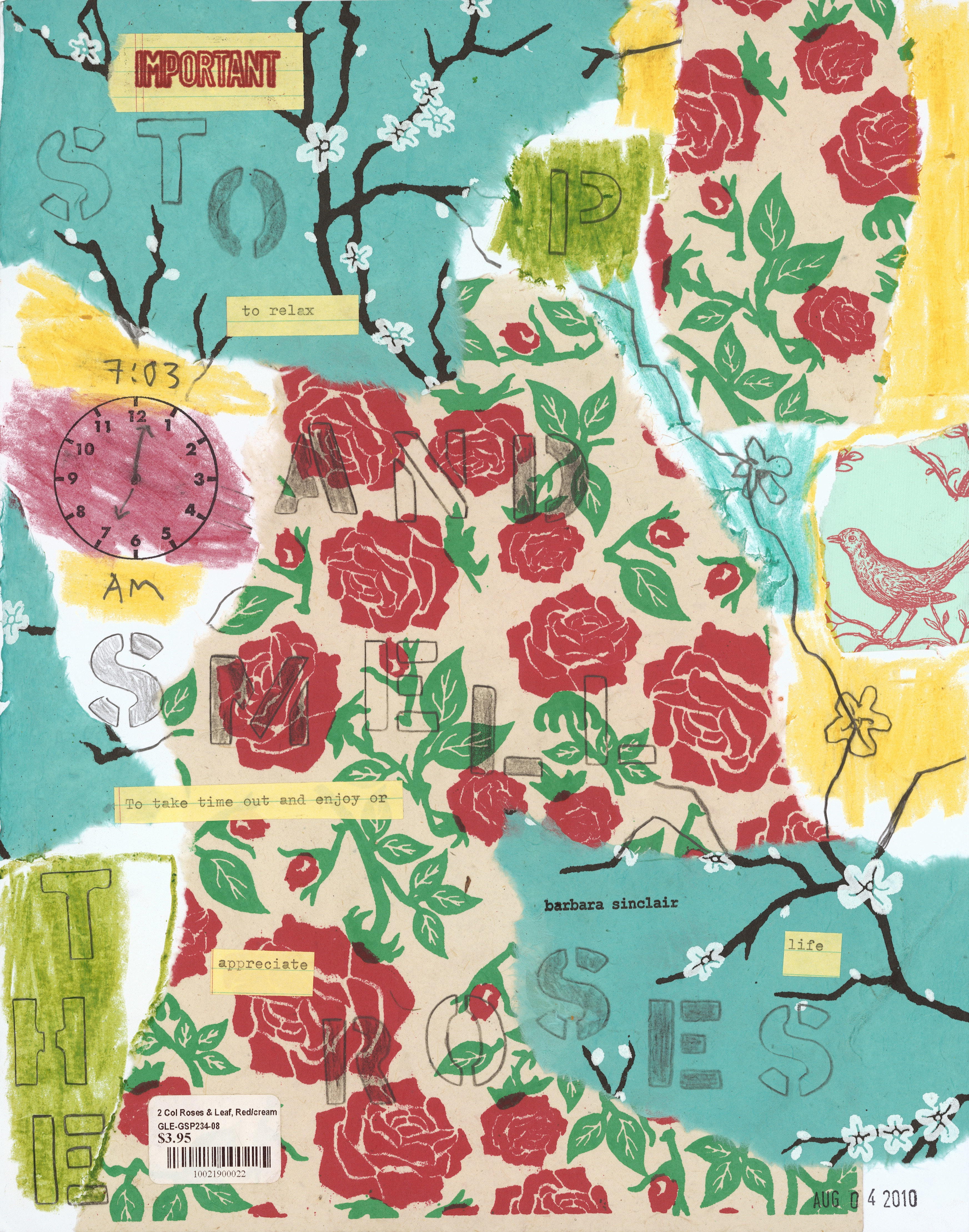 Stop and Smell the Roses Idiom by Barbara Sinclair