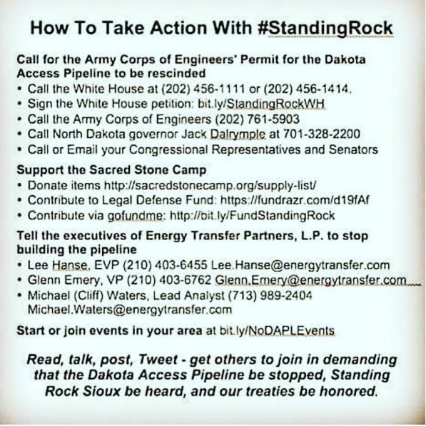 Standing Rock, What can we do to help? Barbara Sinclair Holistic Health