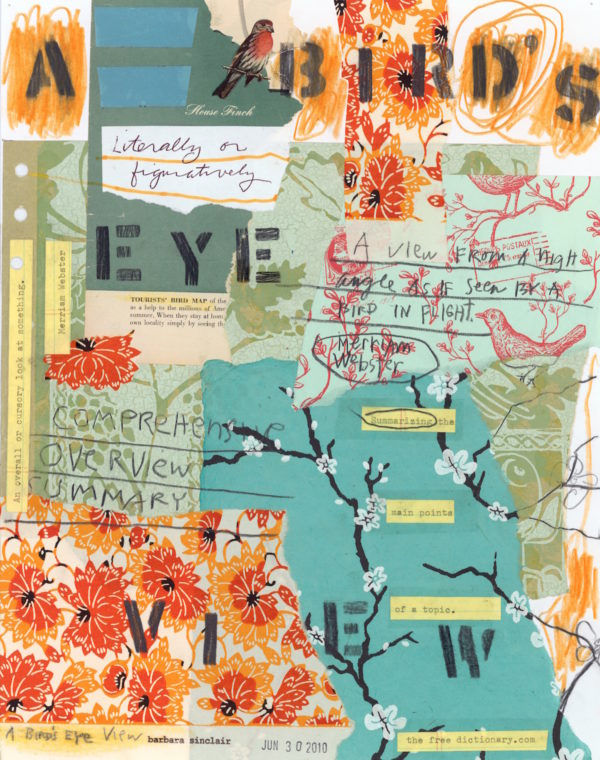 A Bird's Eye View, Idiom Series by Barbara Sinclair, Note Cards and prints