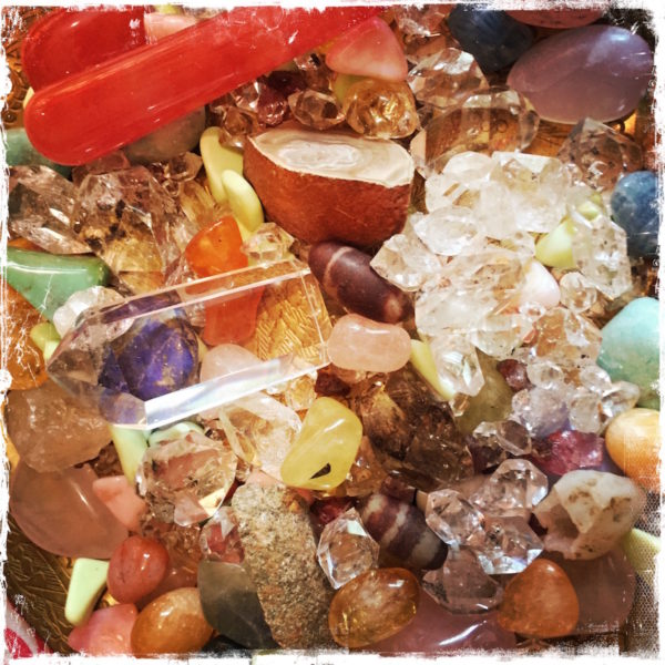 Crystals at Grace Heaven Salon, photo by Barbara Sinclair