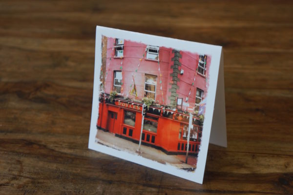 Doyle's Pub in Dublin Note Card by Barbara Sinclair