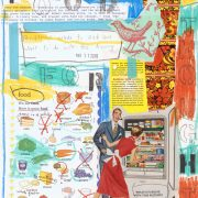 Food for Thought, from Idiom Series by Barbara Sinclair, note cards and prints