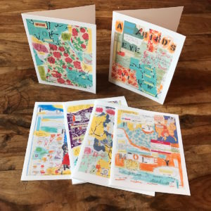 Idiom Series Multipack Note Cards, Photos of original artwork by Barbara Sinclair
