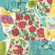 Stop and Smell the Roses, from Idiom Series by Barbara Sinclair, note cards and prints