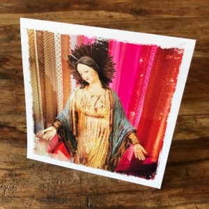 Virgin Mary Note Card, photo by Barbara Sinclair