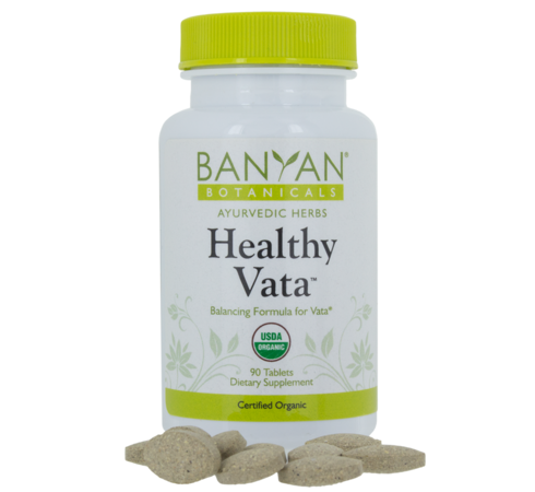 Healthy Vata Organic Tablets, Banyan Botanicals, Barbara Sinclair Holistic Health
