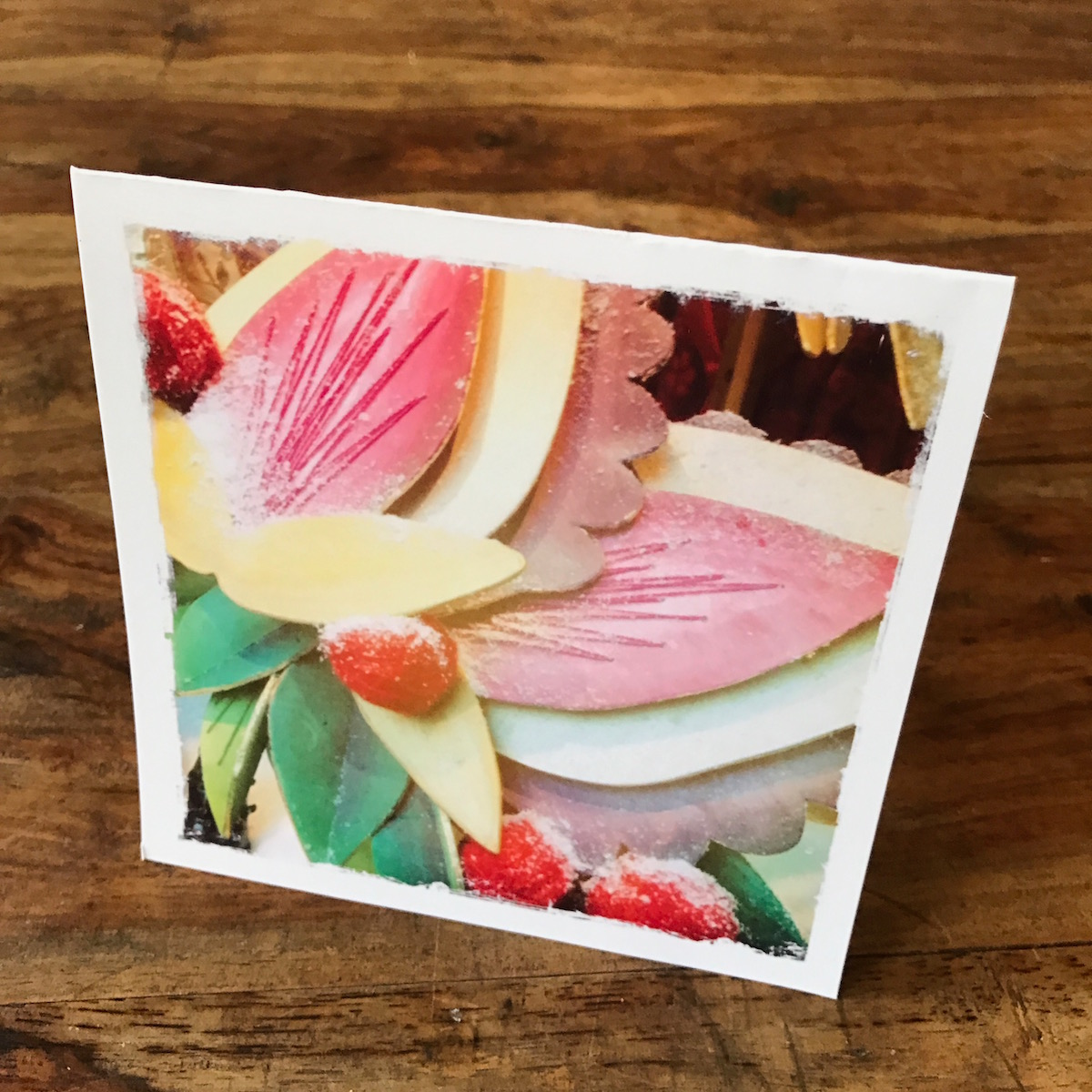 Vintage Holiday Note Card, photo by Barbara Sinclair