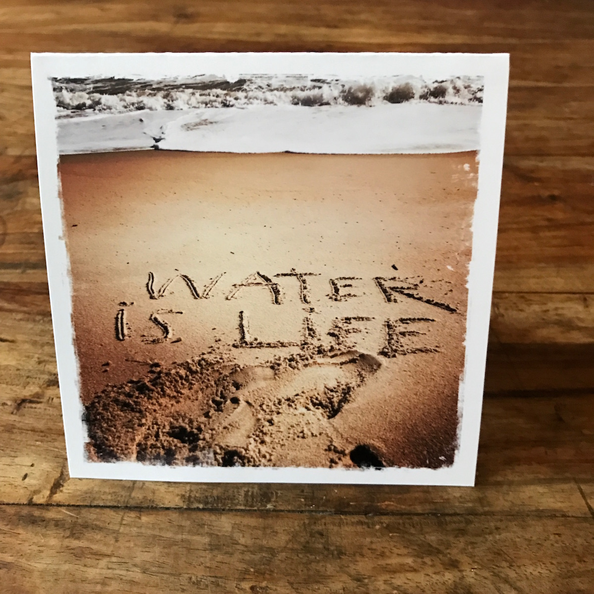 """Water is Life Note Card. Mni Wiconi - Lakota for """"Water is Life"""", photo by Barbara Sinclair"""