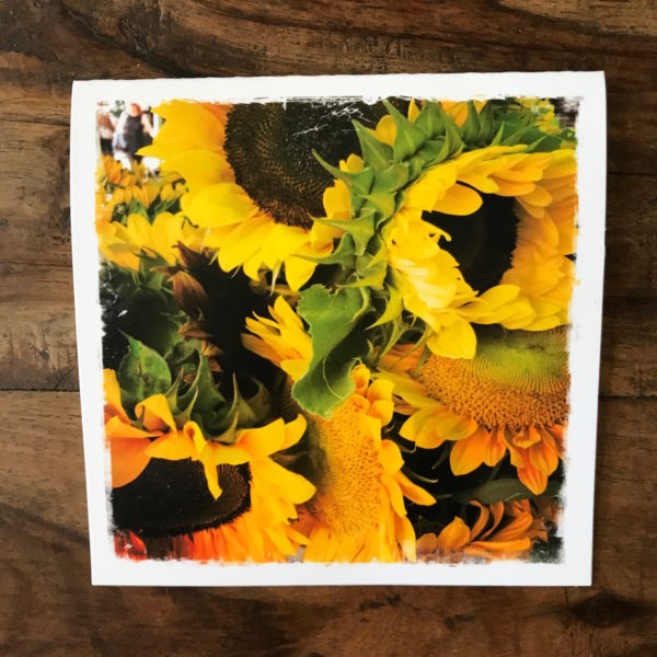 Sunflowers Note Card, Photo by Barbara Sinclair
