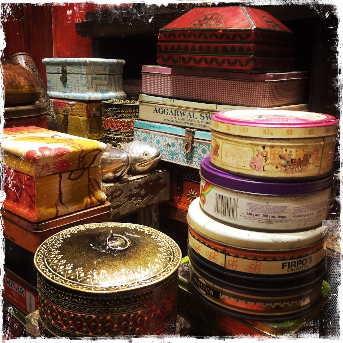 Vintage Tins from India by Barbara Sinclair