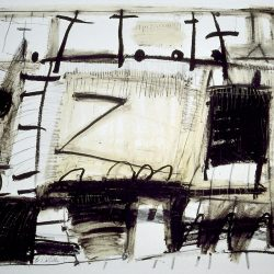 Untitled II Black & White by Barbara Sinclair Mixed-media